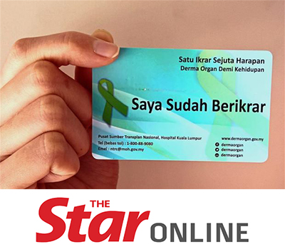 Poor rate in organ donation Malaysia